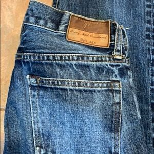 J Crew  mens 28/30.5 slim leg distressed blue jean